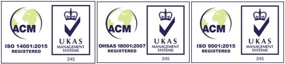 ISO 14001 and OHSAS 18001 accreditation